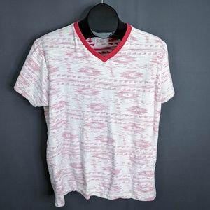 Free Planet T Shirt Size Large Red Mens Reverse
